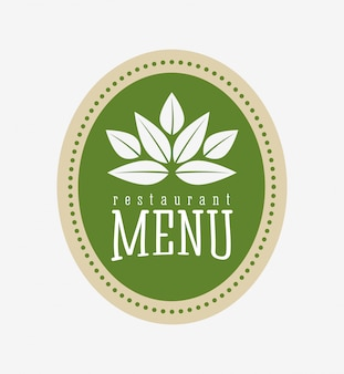 Vegetarisch eten menu