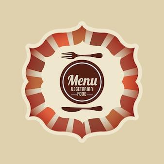 Vegetarisch eten menu