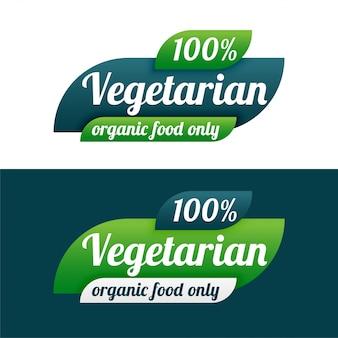 Vegetarisch symbool voor veganistisch eten