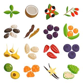 Vegetarisch voedsel gezond en plantaardig vegetarisch groen voedsel.