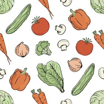 Vegetarische achtergrond paleo dieetvoeding