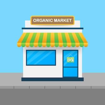 Vegetarische markt, verse boerderij biologisch voedsel.