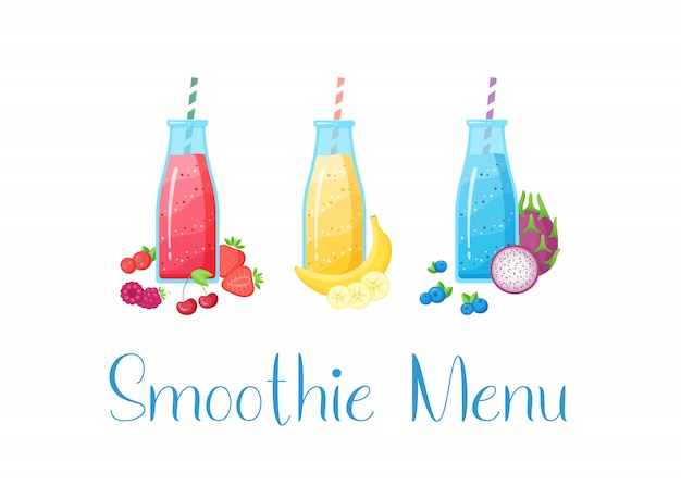 Vegeterian smoothie shake cocktail collectie