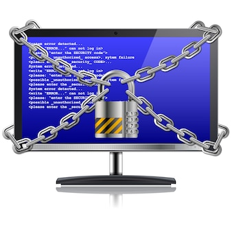 Veilig computerconcept
