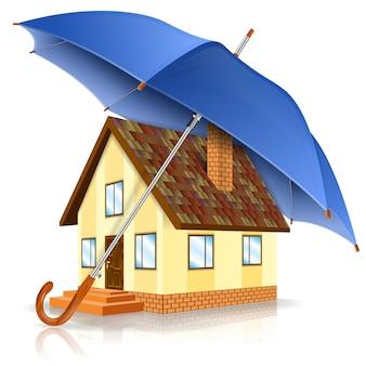 Veilig huis concept