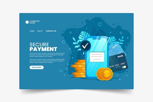 Veilige bestemmingspagina-sjabloon voor betalingen