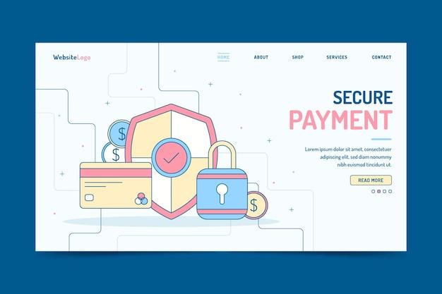 Veilige bestemmingspagina voor betalingen