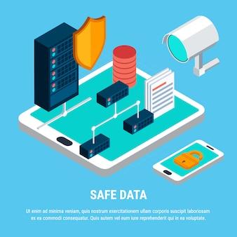 Veilige gegevens isometrisch