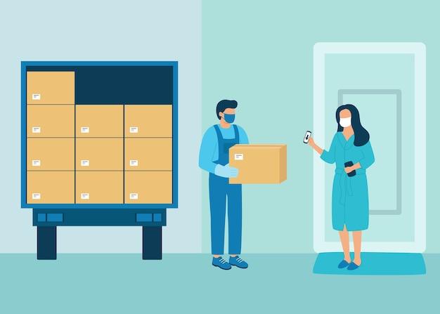 Veilige levering van doosgoederen aan koper