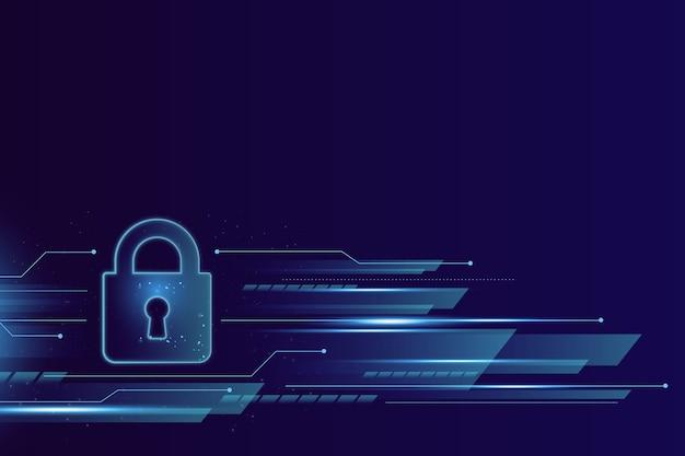 Veilige technologie abstracte achtergrond