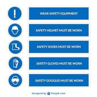 Veiligheid borden vector pack