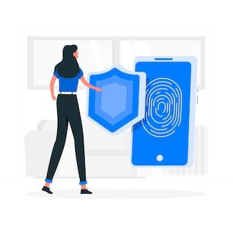 Veiligheid concept illustratie
