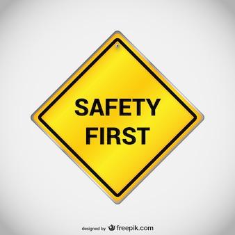 Veiligheid eerste teken vector