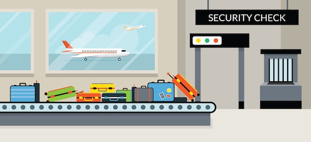 Veiligheidscontrole op de luchthaven
