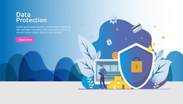 Veiligheidsnetwerkbeveiliging en vertrouwelijke gegevensbescherming met personagekarakter