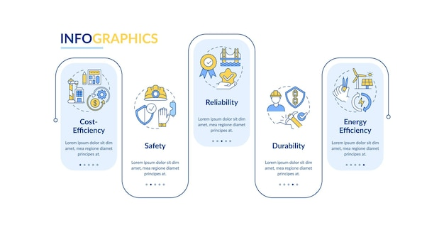 Veiligheidstechniek infographic sjabloon illustratie