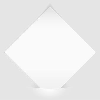 Vel wit papier gemonteerd in zak