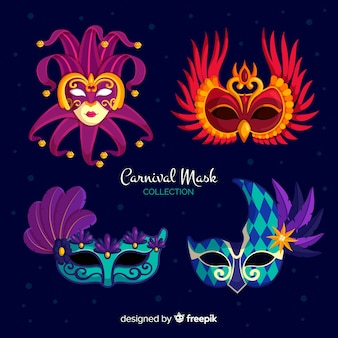 Venetiaanse maskerverzameling uit carnaval