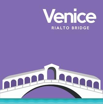 Venice achtergrond ontwerp