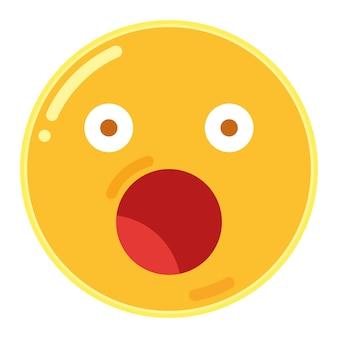 Verbaasd gezicht emoticon