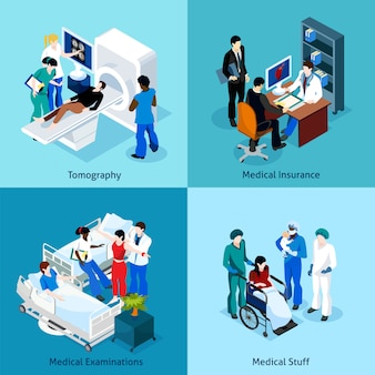 Verband tussen arts en patiënt icon set
