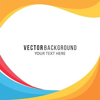 Verbazingwekkende volledige kleurenachtergrond met golvende vormen Premium Vector