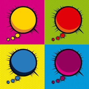 Verbeelding strips pictogrammen