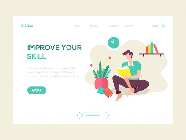 Verbeter uw vaardigheid web illustratie