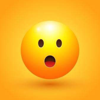 Verbijsterd gezicht emoji illustratie