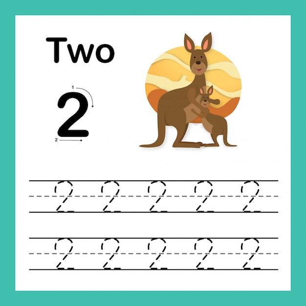 Verbindende punt en de afdrukbare aantallen oefenen illustratie, vector uit