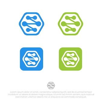 Verbinding logo ontwerp sjabloon vector