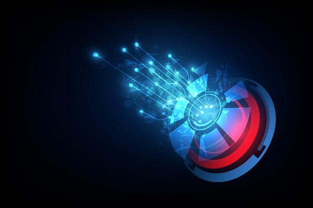 Verbindingslijn op de achtergrond van het voorzien van een netwerktelecommunicatieconcept