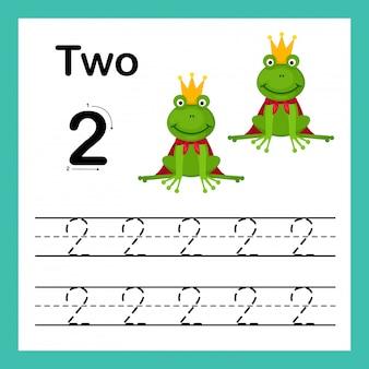 Verbindingspunt en afdrukbare getallen oefenen illustratie uit