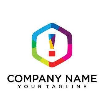 Verboden brief logo pictogram zeshoek ontwerpsjabloon element