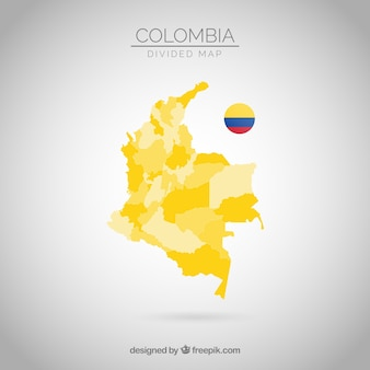 Verdeelde kaart van colombia