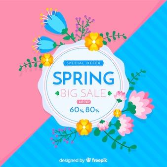 Verdeelde lente verkoop achtergrond