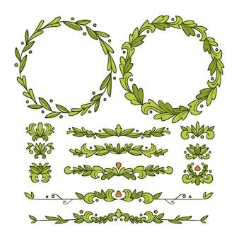 Verdelers en frames voor documentdecoratie