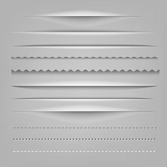 Verdelers papier gesneden