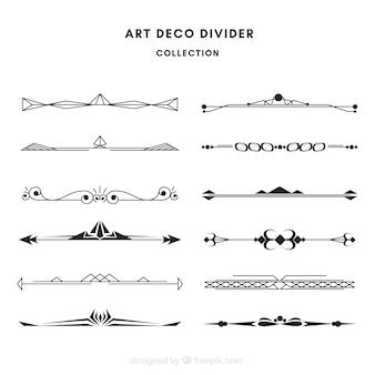 Verdelerscollectie in art deco-stijl