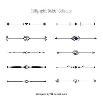 Verdelerscollectie in kalligrafische stijl