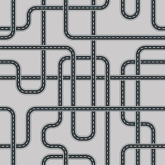 Verdraaid straat en weg naadloos patroon