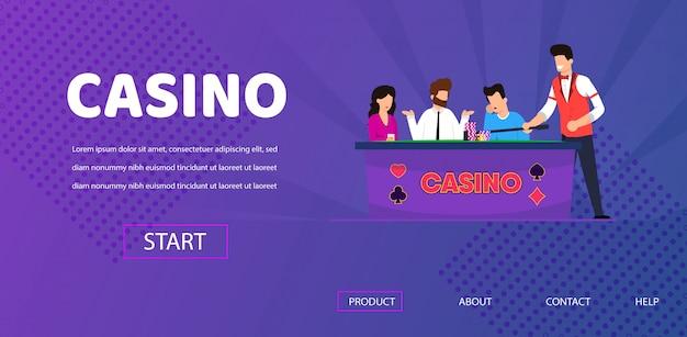 Verdrietig man verloren in poker casino dealer wissen tabel