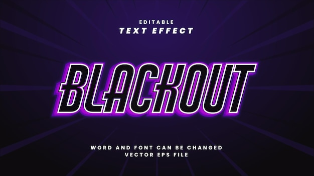 Verduisterend bewerkbaar teksteffect in moderne 3d-stijl