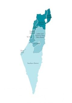 Vereenvoudigde administratieve kaart van israël