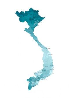 Vereenvoudigde administratieve kaart van vietnam