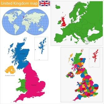 Verenigd koninkrijk kaart