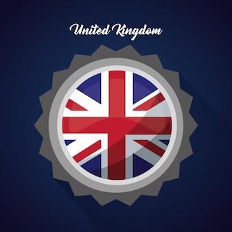 Verenigd koninkrijk land vlag