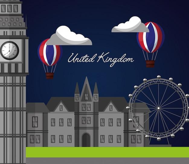 Verenigd koninkrijk land vlag Premium Vector
