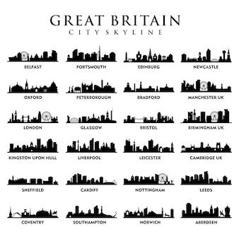 Verenigd koninkrijk - steden van groot-brittannië - city tour skyline