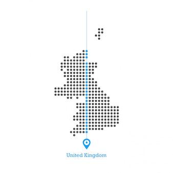 Verenigd koninkrijk verliefd kaart ontwerp vector